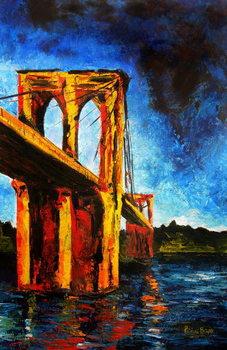 Brooklyn Bridge to Utopia, 2009 Canvas Print