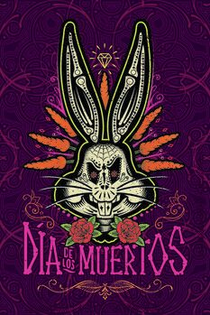 Canvas Print Bugs Bunny - Day of the Dead