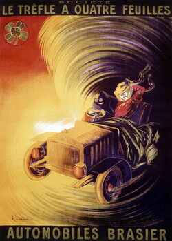 Advertisement by Leonetto Cappiello for the Brasier cars in France around 1900 Canvas Print