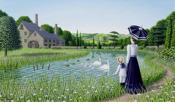 By the Old Mill, 1996 Canvas Print
