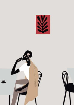 Cafe Scene with Matisse, 2016, Canvas Print