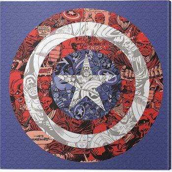 Canvas Print Captain America - Shield Collage