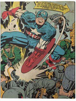 Canvas Print Captain America - Soldiers