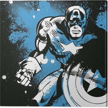 Canvas Print Captain America - Splatter