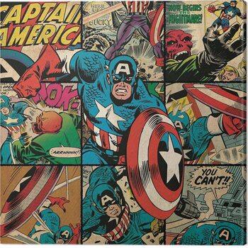 Canvas Print Captain America - Squares