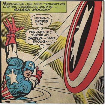 Canvas Print Captain Americe - Shield