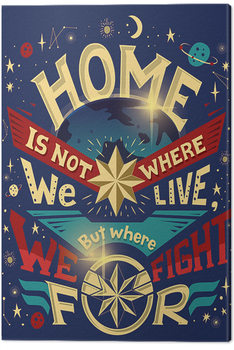 Captain Marvel - Home Canvas Print