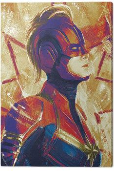 Canvas Print Captain Marvel - Paint