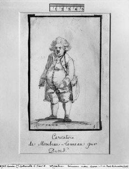 Caricature of Andre Boniface Louis of Riqueti, Viscount of Mirabeau, nicknamed Mirabeau-Tonneau Canvas Print