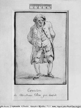 Caricature of Honore Gabriel Riqueti, Comte de Mirabeau Canvas Print
