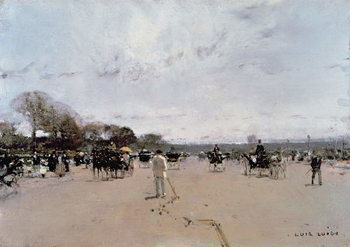 Carriages on the Champs Elysees Canvas Print