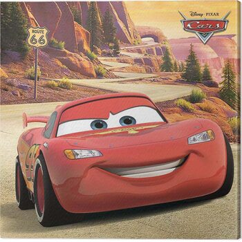 Canvas Print Cars - Lighting McQueen - Route 66