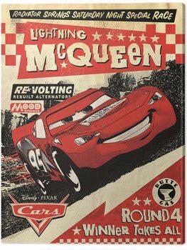 Canvas Print Cars - Lightning Mcqueen - Race