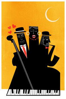 Canvas Print Casablanca Jazz YELLOW