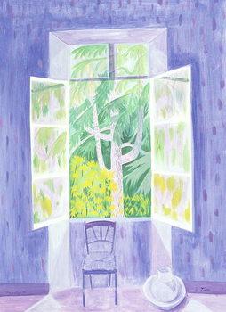 Cedars Through the Window, 1987 Canvas Print