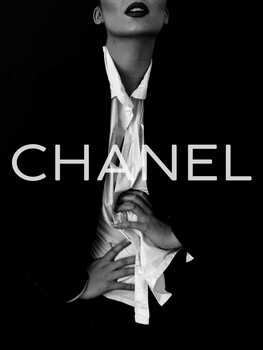 Canvas Print Chanel model
