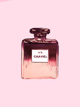 Chanel No.5 pink Canvas Print