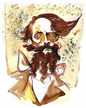 Charles Dickens - caricature Canvas Print