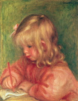 Child Drawing, 1905 Canvas Print