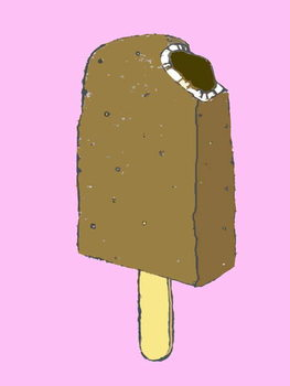 Choc lolly,2007 (oil sticks and ink on paper Canvas Print
