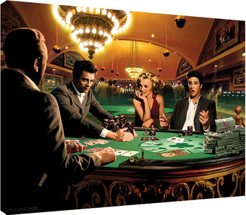 Chris Consani - Royal Flush Canvas Print