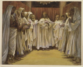 Christ with the twelve Apostles, illustration for 'The Life of Christ', c.1886-96 Canvas Print