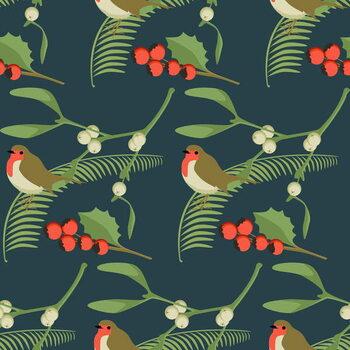 Canvas Print Christmas Robin