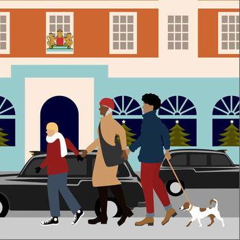 Christmas Shopping Canvas Print