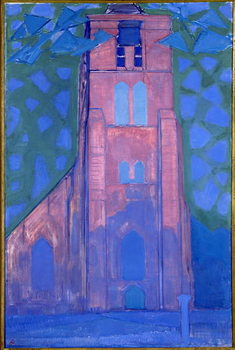 Church tower at Domburg, 1911 Canvas Print