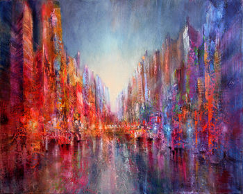 Canvas Print City at the riverside I