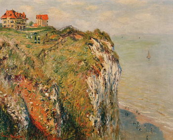 Cliff at Dieppe, 1882 Canvas Print