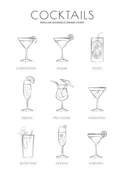 Canvas Print Cocktails