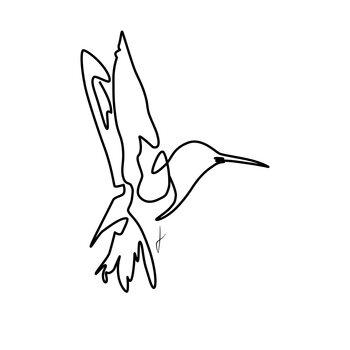 Canvas Print Colibri