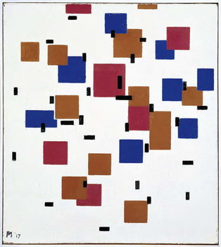 Composition in Colour A, 1917 Canvas Print