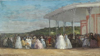 Concert at the Casino of Deauville, 1865 Canvas Print