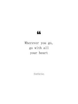 Confucius quote Canvas Print