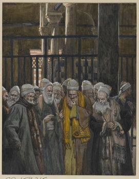 Conspiracy of the Jews, illustration from 'The Life of Our Lord Jesus Christ', 1886-94 Canvas Print