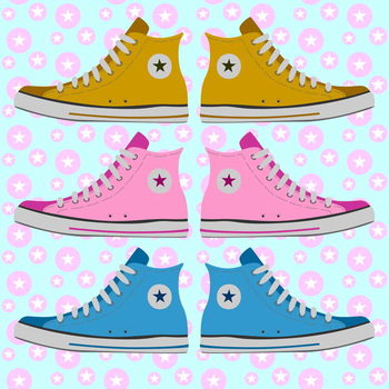 Converse Delight Canvas Print