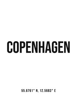 Canvas Print Copenhagen simple coordinates