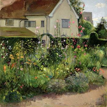 Corner of the Herb Garden Canvas Print