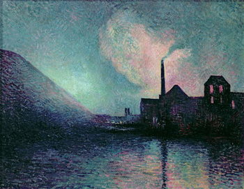 Couillet by Night, 1896 Canvas Print