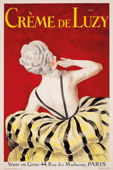 'Creme de Luzy', an advertising poster for the Parisian cosmetics firm Luzy, 1919 Canvas Print
