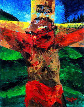 Crucifixion- it is finished, 2009 Canvas Print
