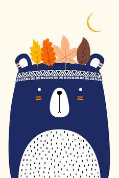 Canvas Print Cute Little Bear