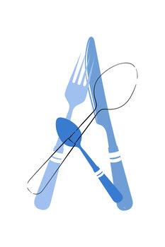 Canvas Print Cutlery