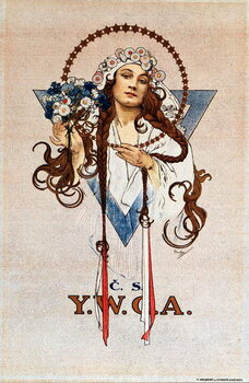 Canvas Print Czechoslovak YWCA Poster for the Young Women's Christian Association YWCA in Czechoslovakia Lithograph by Alphonse Mucha  1922 Dim 54x82 cm Private collection