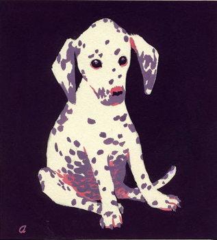 Dalmation Puppy, 1950s Canvas Print