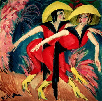 Dancers in Red, 1914 Canvas Print