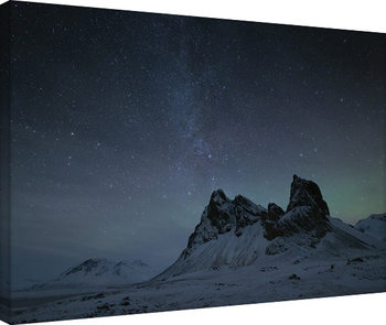 Canvas Print David Clapp - Starry Night, Eystrahorn Mountains, Iceland