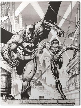 Canvas Print DC Comics - Batman and Nightwing